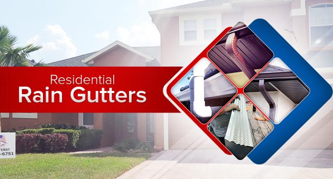 residential rain gutters
